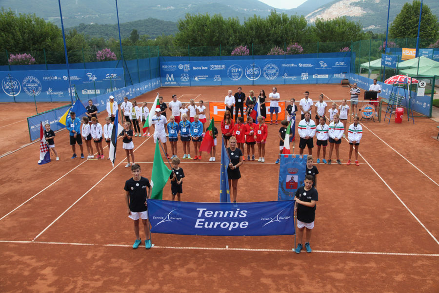La cerimonia inaugurale del Tennis Europe Nations Challenge by Head, al via giovedì all'Olimpica Tennis Rezzato (Brescia) - foto Maffeis